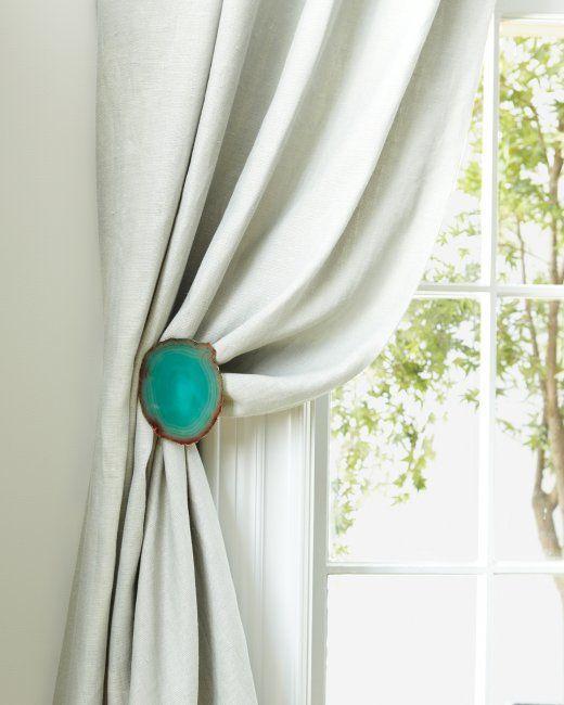 agate curtain tiebacks