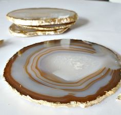 Gold Agate Costers
