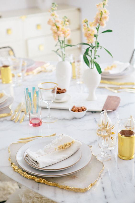 agate table top decor