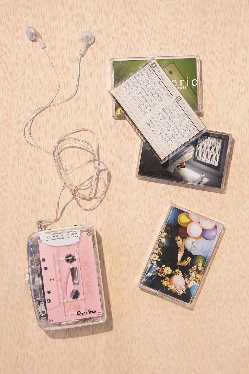 clear cassette player from urban outfitters