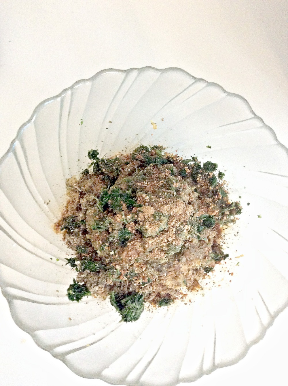 eggplant meatballs mixture