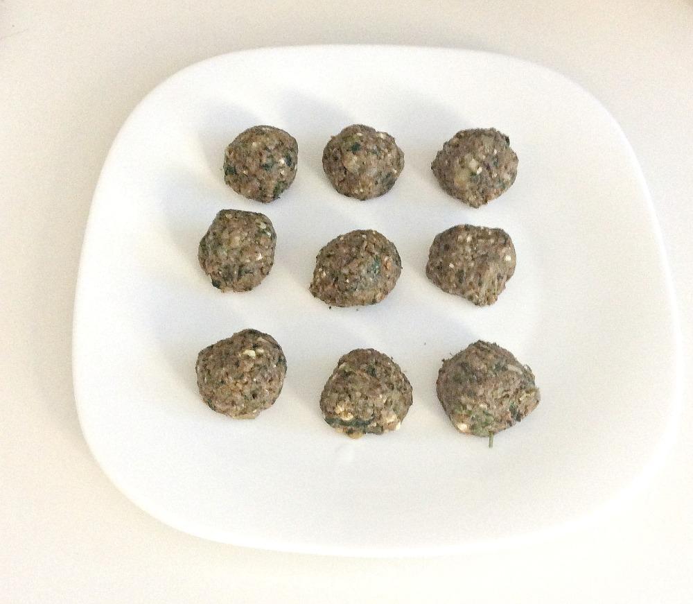 eggplant meatballs uncooked
