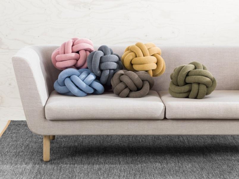 knot cushion yarn ball cushions pillows