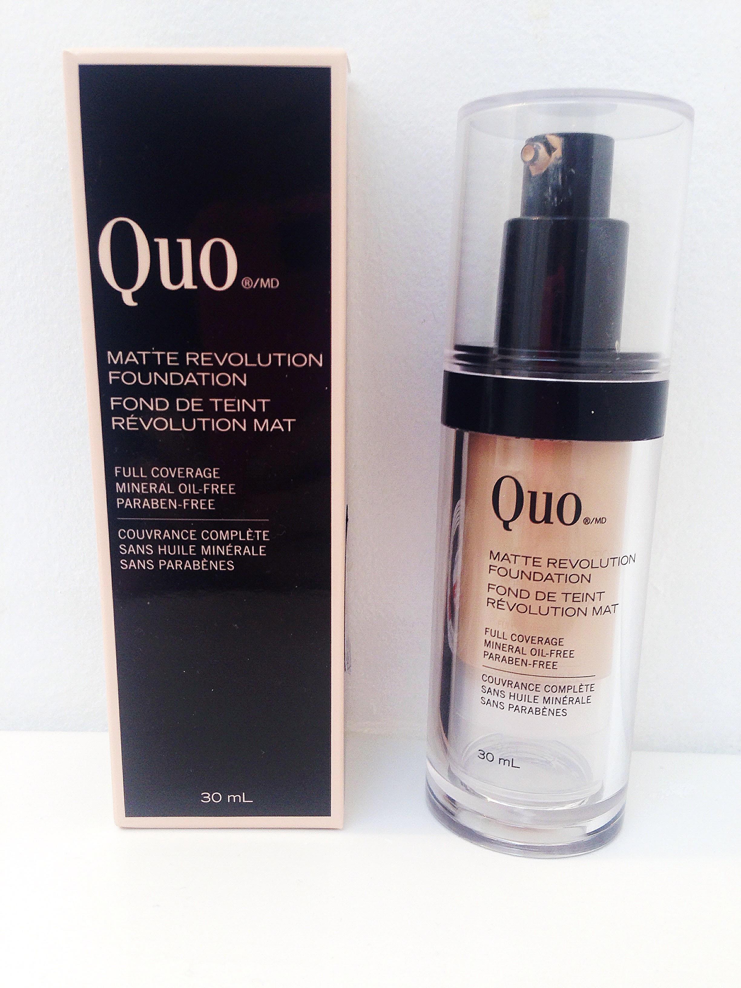 Quo Matte Revolution Foundation Review_Shoppers Drug Mart